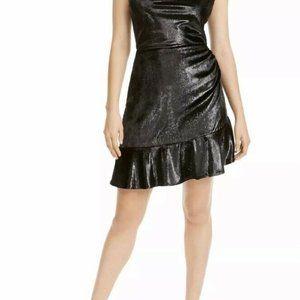 Leyden Shimmery Glitz & Glam Ruffle-Hem Dress